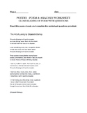 Art of Losing poem - Elizabeth Bishop - poem & assignment questions