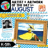 Art of The Day K-5- AUGUST