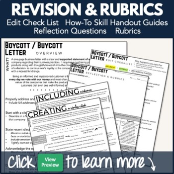 Writing PBL Project: Boycott / Buycott Research & Persuasive Letter Project