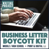 Protest Business Letter Research Project PBL