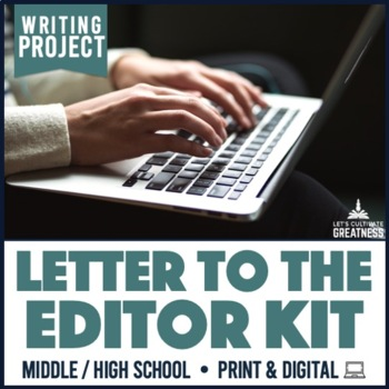 Writing PBL Project: Letter to the Editor Research Project