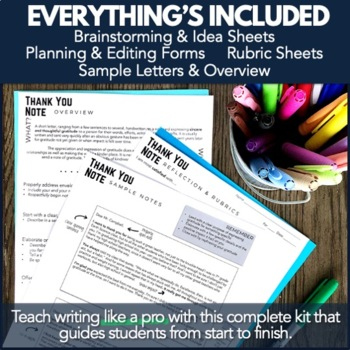 Writing PBL Project: Thank You Note Card