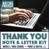 Writing PBL Project: Thank You Note Card or Letter