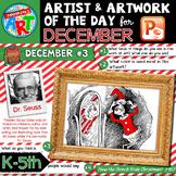 Art of the Day for K-5- DECEMBER