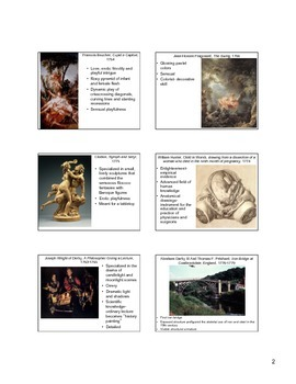 Art of the Late 18th through mid-19th century (Enlightenment)