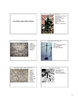 Art of the Later 20th Century Notes (Modern-Contemporary Art)