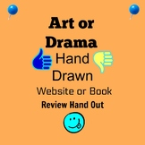 Hand Drawn Art or Drama Handout For Book or Website Review