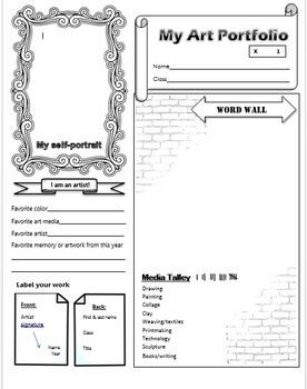 Art Portfolios, printable - 4 different levels, 1 editable *updated 08/17