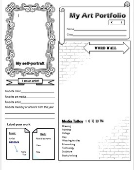 photo relating to Printable Portfolio referred to as Artwork Portfolios, printable - 4 substitute stages, 1 editable *up-to-date 08/17
