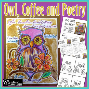 Art project: Owl, Coffee and Poetry - Art lesson plan