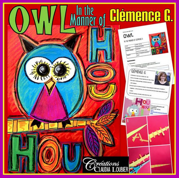 Art Project: Owl, in the Style of Clémence G.