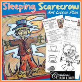 Autumn Art Project: Sleeping Scarecrow