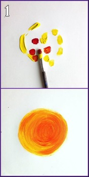 Art Project for Preschool up to Grade 2: Ray of Sun Shine - Art Lesson Plan
