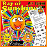 Art Project for Preschool up to Grade 2: Ray of Sunshine - Art Lesson Plan