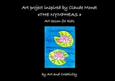 Art project for kids inspired by Claude Monet «Les nymphéas»