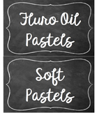 Art room chalkboard organisational labels