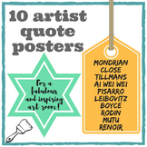 Art room display: A4 printable inspiring artist quotes