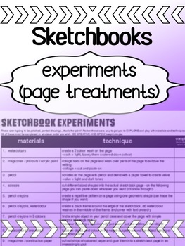Art - Sketchbooks - Experimenting with techniques