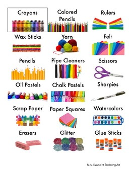 Art supply Labels