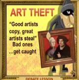 Art theft – sad reality VS romantic fiction -ESL adult conversation power-point