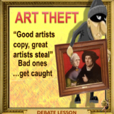 Art theft – sad reality VS romantic fiction -ESL adult conversation power-point