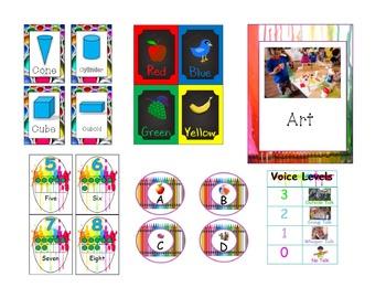 Art Themed Classroom Decor Pack