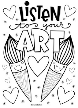 Art valentine's coloring page