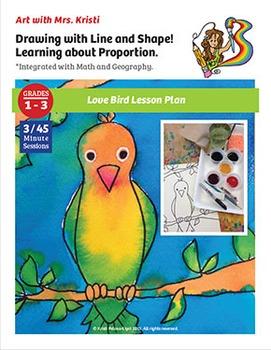 Art with Mrs. Kristi - Love Birds