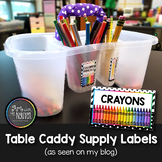 Art with Mrs. Nguyen's Table Supply Caddy Labels (Freebie)