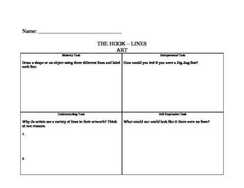 Art written activity on lines task rotation