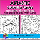 Artastic Coloring Pages Sampler, Zen Doodles
