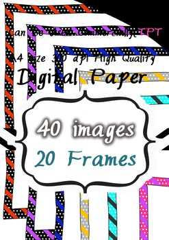 CLIPART 300pdi  digital paper 20 png images
