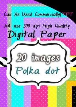 CLIPART 300pdi digital paper 20 png tiny polka dot