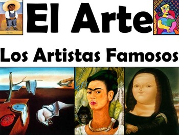 Spanish-Speaking Artists and Paintings Culture and Vocabulary Unit