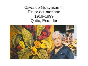 Arte Indígena (Oswaldo Guayasamín)