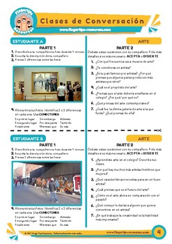 Arte - Spanish Speaking Activity
