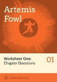 Artemis Fowl - Chapter Questions Worksheet