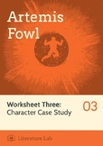 Artemis Fowl - Character Case Study Worksheet