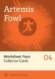 Artemis Fowl - Collector Cards Worksheet