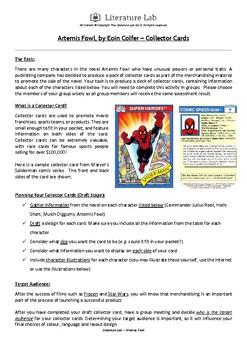 Artemis Fowl - Collector Cards Worksheet