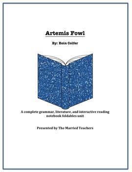 Artemis Fowl Complete Literature, Grammar, & Interactive Foldables Unit