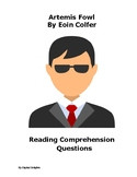 Artemis Fowl Comprehension Questions