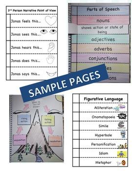 Artemis Fowl Interactive Literature and Grammar Notebook Foldables