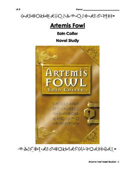 Artemis Fowl Novel Study Booklet