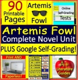 Artemis Fowl Novel Study Book 1 Printable + SELF-GRADING GOOGLE FORMS!
