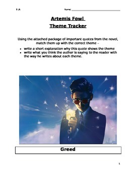 Artemis Fowl Theme Work Package (w/ Quotes)