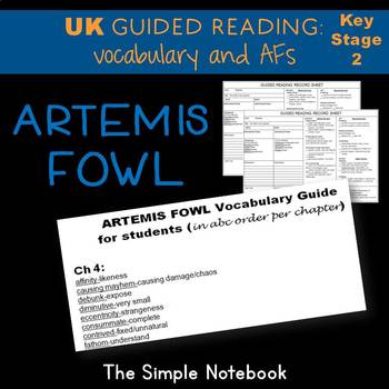Artemis Fowl: Vocabulary