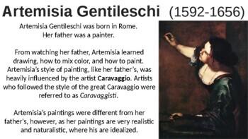 Artemisia Gentileschi PPT, K-8