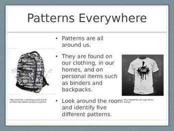 Patterning Presentation