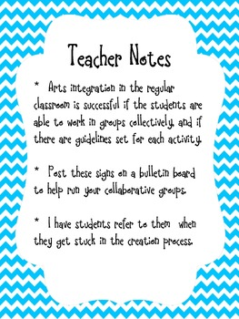 Artful Learning Signs for Collaborative Group Work Using the Arts